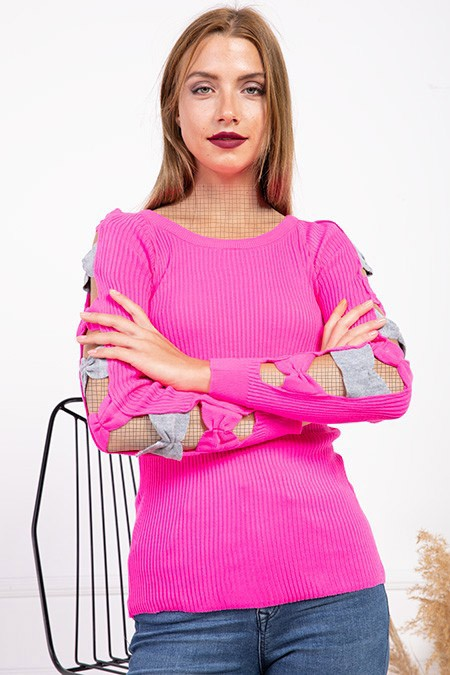 image number  4 products  Women's knitwear, pink, in 9 different colors