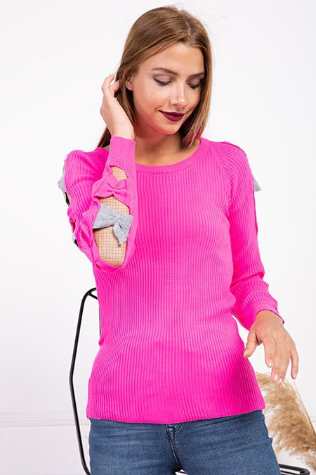 image number  5 products  Women's knitwear, pink, in 9 different colors