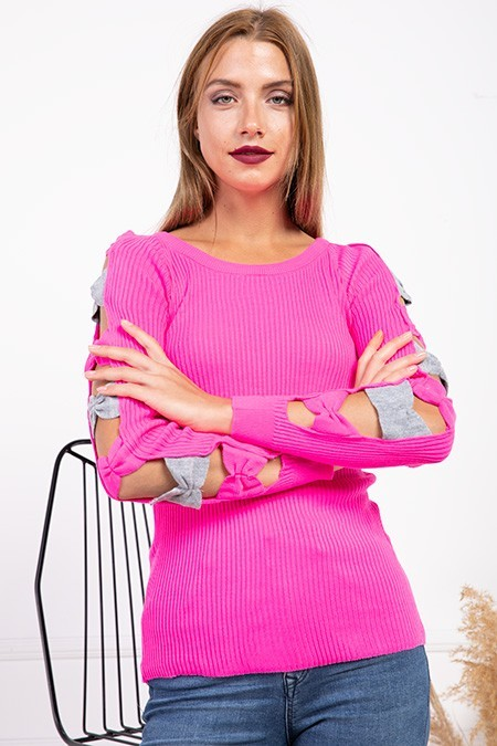 image number  3 products  Women's knitwear, pink, in 9 different colors