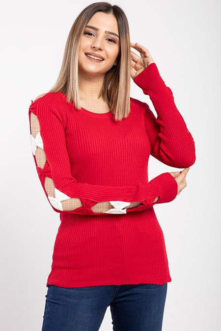 image number  1 products  Women's knitwear, red, in 9 different colors