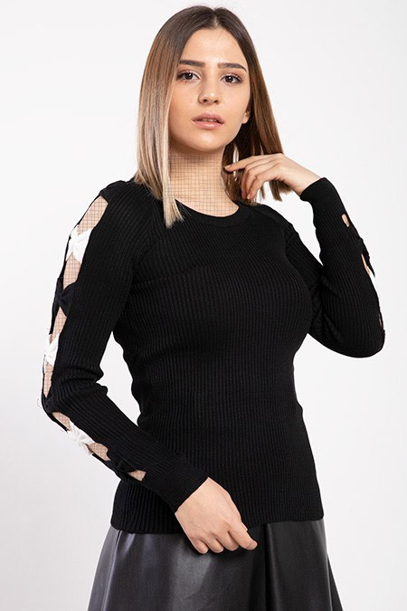 image number  2 products  Women's black knitwear, in 9 different colors