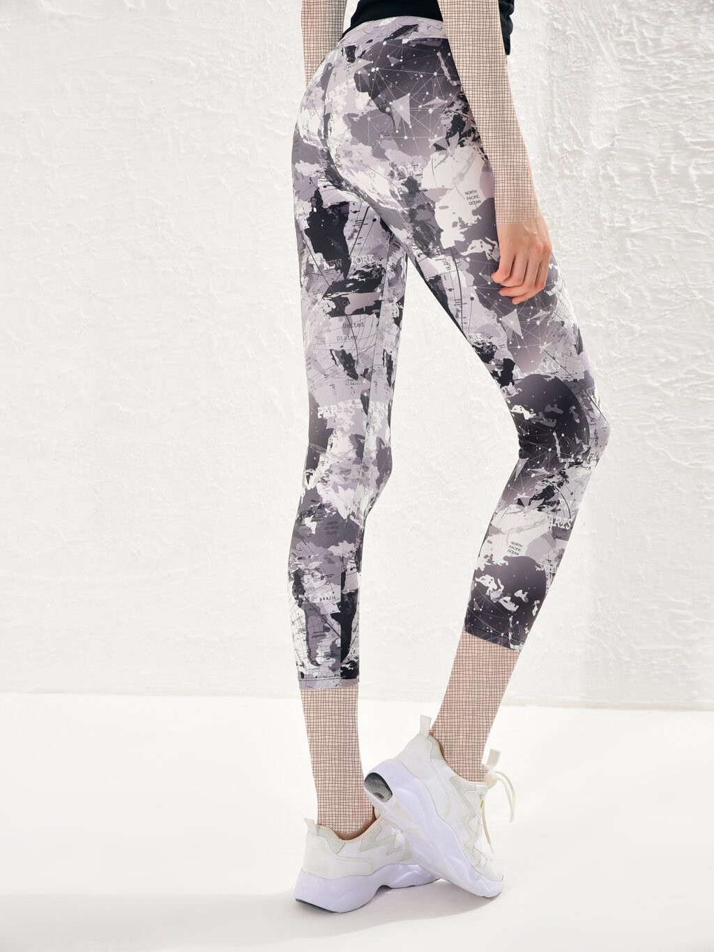 image number  1 products  LC women's support and leg, gray pattern