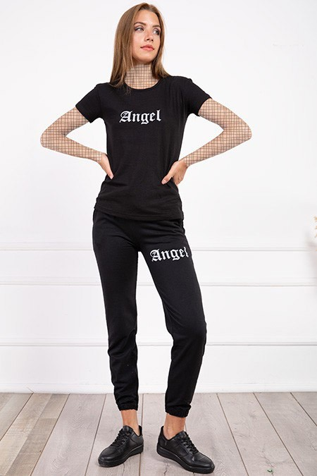 image number  2 products  Women's sports set, Angel, black, in seven colors
