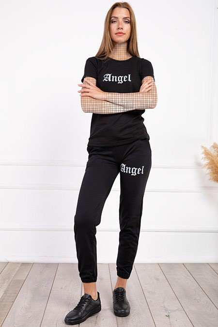 image number  1 products  Women's sports set, Angel, black, in seven colors