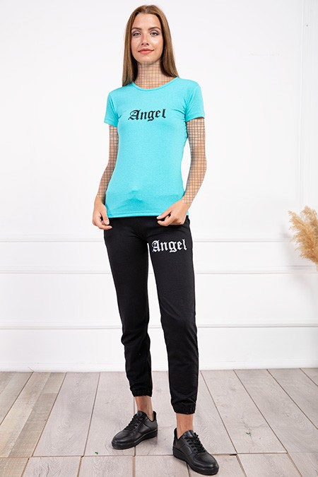 image number  5 products  Women's sports set, Angel, blue, in seven colors