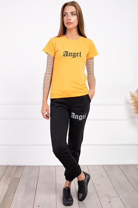 image number  3 products  Women's sports set, Angel, golden color, in seven colors