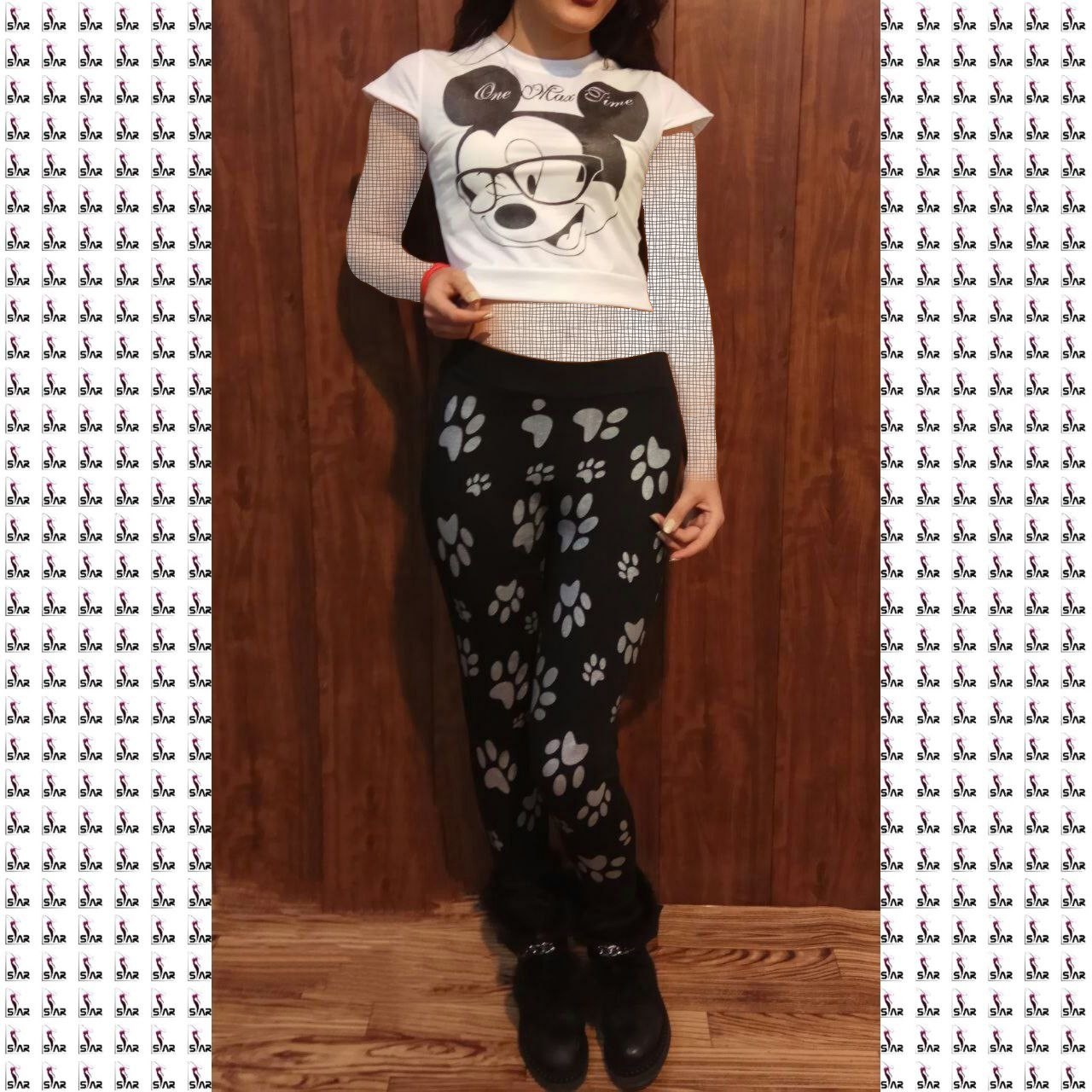 products  Half print and full Mickey pants