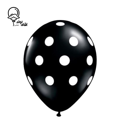 image number  6 products  Monochrome Spotted Balloon (Variety of about 10 colors)