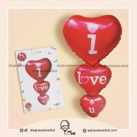 Wholesale buying Foil Balloon I Love You 3 Pieces Supplier:                                                                                                            aghayetavallod