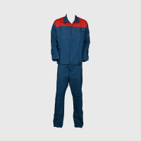 Iranian's  Work clothes linen pants jacket, blue red