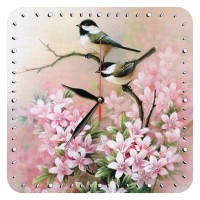 Iranian's  Wall clock with sparrow and flower design, model 1062