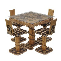Iranian's  4 person rustic forest dining table