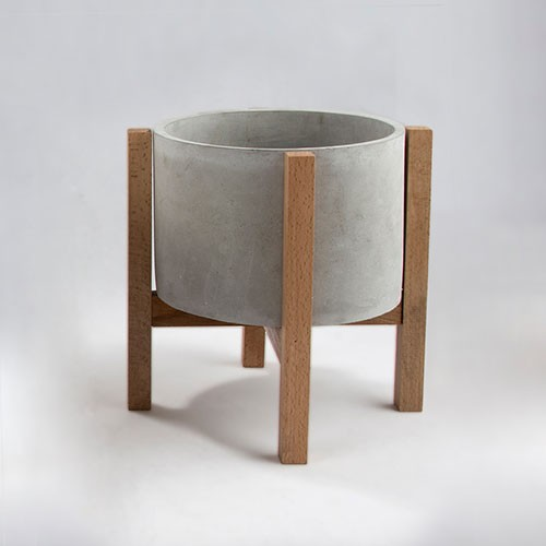 products  Large size wooden base pot