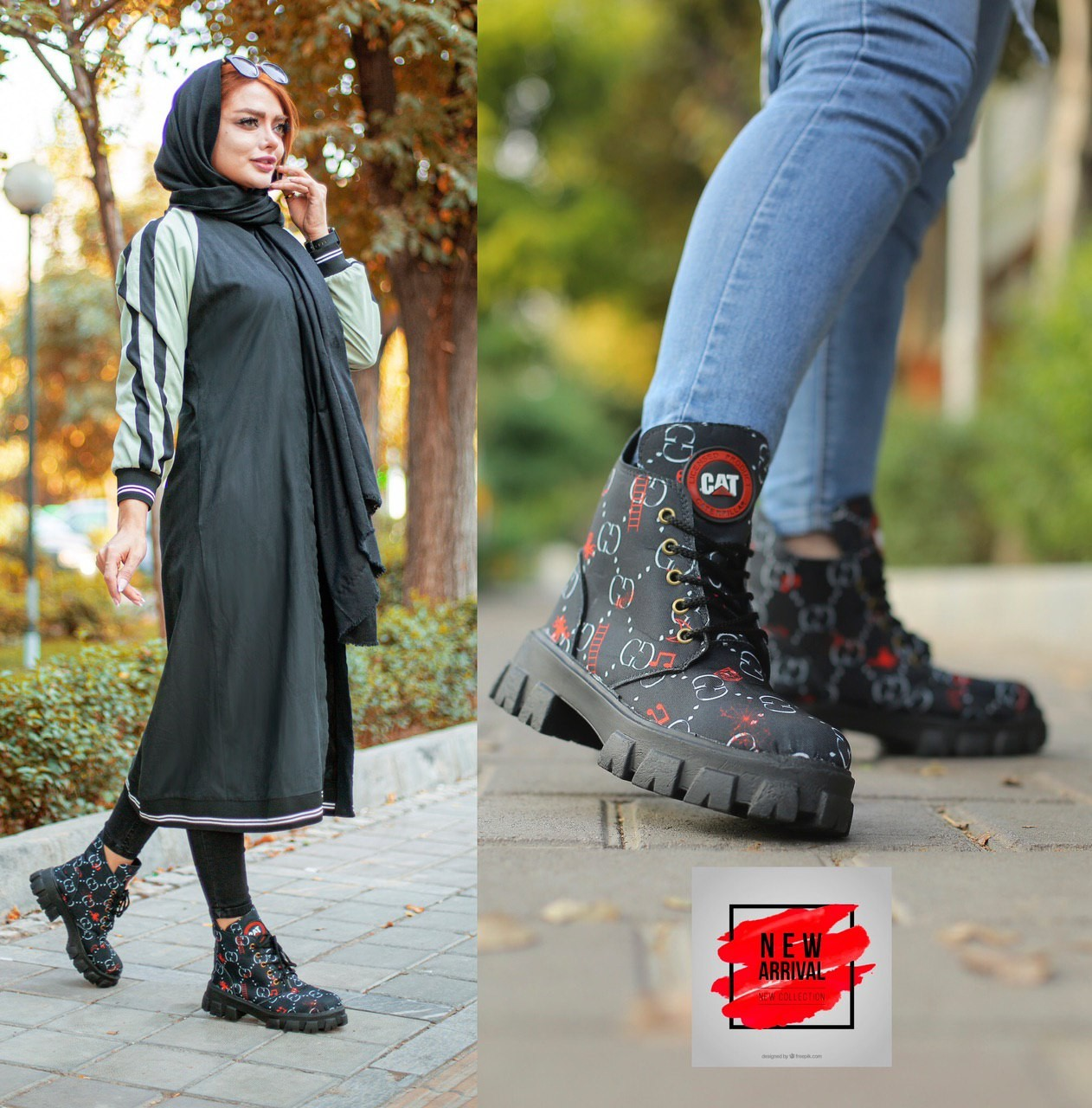 image number  4 products  Women's patterned ankle boots