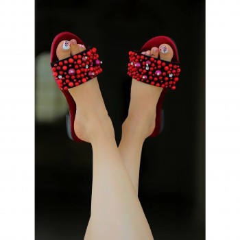 products  Coarse pearl sandals