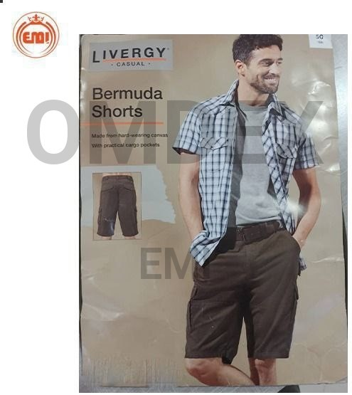 image number  3 products  Men's linen shorts, packed, brand (Liurge)