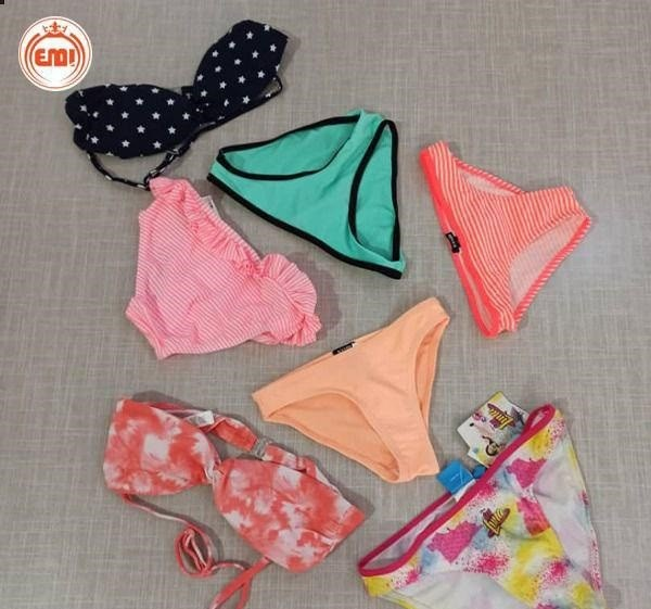 image number  3 products  Children's swimsuit (shorts and upper body) as a single brand (Kiabi)
