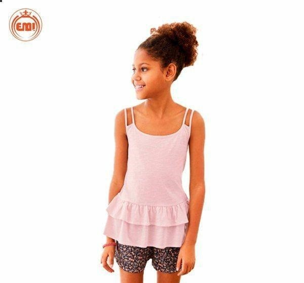 image number  1 products  Bulk white and pink baby tops