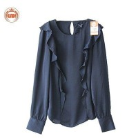 Wholesale buying Women's satin with sleeves, navy blue color Supplier:                                                                                                            EMI