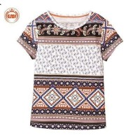 Iranian's  Traditional patterned T-shirt for girls and children