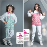 Iranian's  Heart-shaped sweatshirts and pants for children and girls