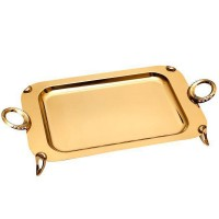 Iranian's Royal Gold Rectangle Tray Size 1