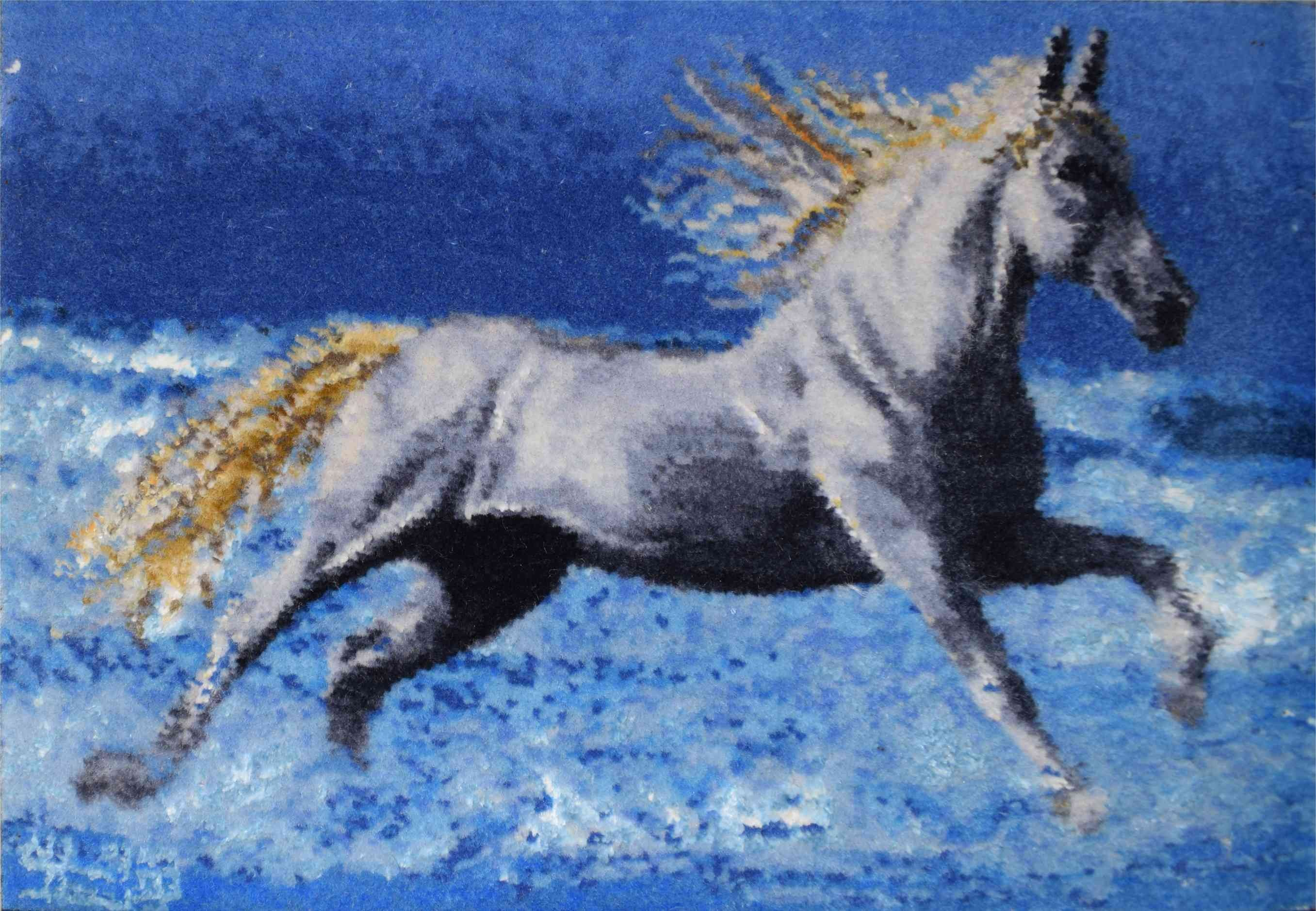 image number  2 products  Beach Horse Handmade Carpets