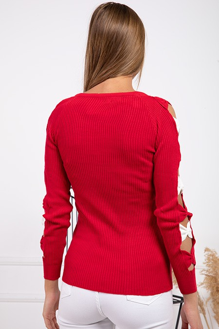 image number  6 products  Women's knitwear, red, in 9 different colors