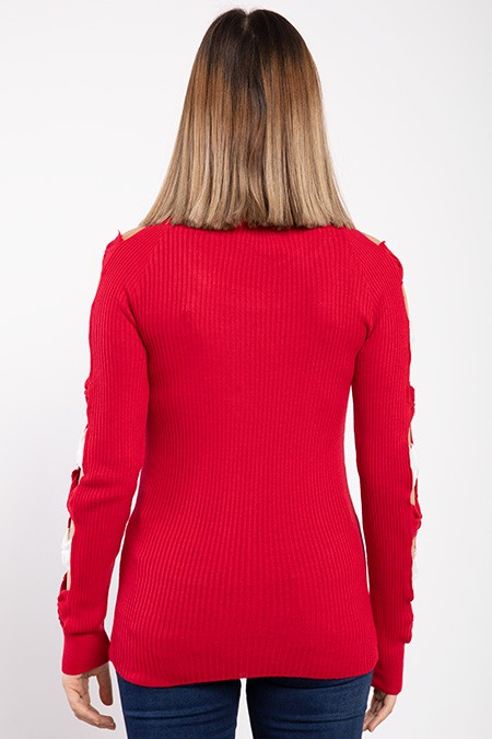 image number  5 products  Women's knitwear, red, in 9 different colors