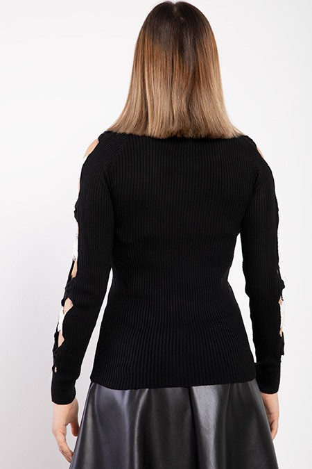 image number  4 products  Women's black knitwear, in 9 different colors