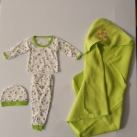 Iranian's Set of baby size zero and single-colored blanket