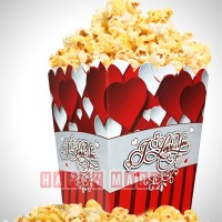 Wholesale buying Pack of 10 popcorn container love theme from Happiness Supplier:                                                                                                            happymark