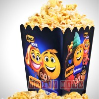 Wholesale buying Pack of 10 Popcorn Containers Emoji Theme from Happiness Supplier:                                                                                                            happymark