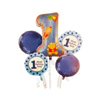 Wholesale buying Foil balloon 5 piece one year old boy Supplier:                                                                                                            happymark
