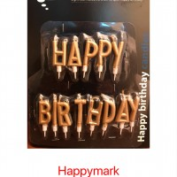Wholesale buying Happy birthday candle in two colors silver and gold Supplier:                                                                                                            happymark