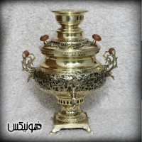 Iranian's  Samovar 6 liters of Phoenix flowers and black chicken pen with service