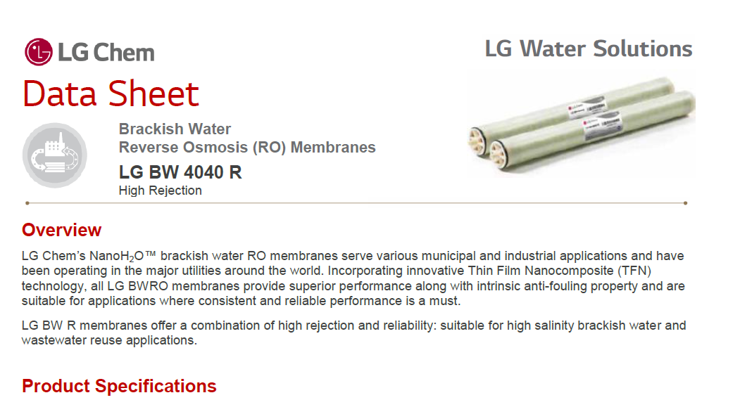 image number  1 products  4 inch LG Membranes