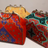 Iranian's  Metal handle clutch bag
