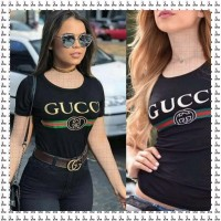 Iranian's  Gucci black printed T-shirt