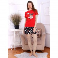 Wholesale buying Comfortable tops and shorts, women's home, mix Supplier:                                                                                                            Meditarrane