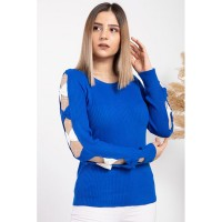 Wholesale buying Women's knitwear, blue, in 9 different colors Supplier:                                                                                                            Meditarrane