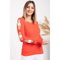 Wholesale buying Women's knitwear, orange, in 9 different colors Supplier:                                                                                                            Meditarrane