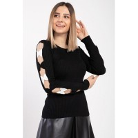 Wholesale buying Women's black knitwear, in 9 different colors Supplier:                                                                                                            Meditarrane