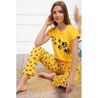 Wholesale buying Comfort set, mustard t-shirt and pants, cotton, in three colors Supplier:                                                                                                            Meditarrane
