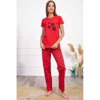 Wholesale buying Comfort set, red T-shirt and pants, cotton, in three colors Supplier:                                                                                                            Meditarrane