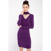 Wholesale buying Women's knitted shirt, heart-shaped collar, purple monochrome Supplier:                                                                                                            Meditarrane