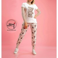 Wholesale buying Two pieces of T-shirt and long slippers Supplier:                                                                                                            shikanarli