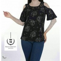 Iranian's  Open guipure round neck blouse