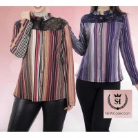 Iranian's  Pleated collar blouse